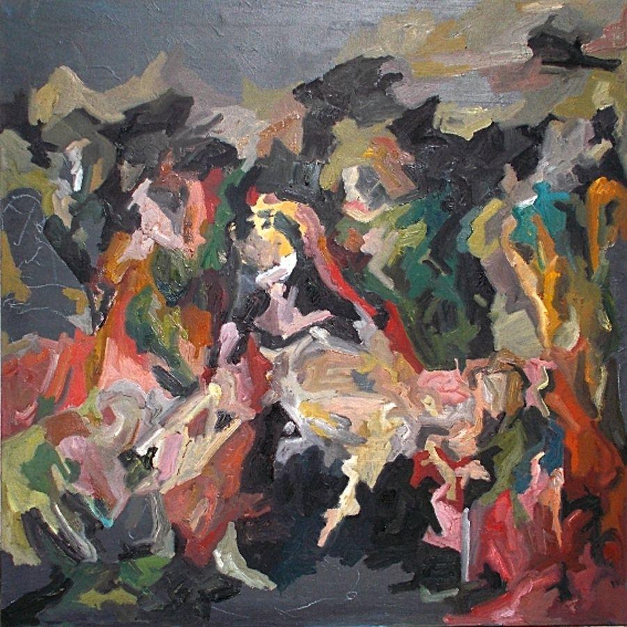 Pietà, oil on canvas, 80x80cm