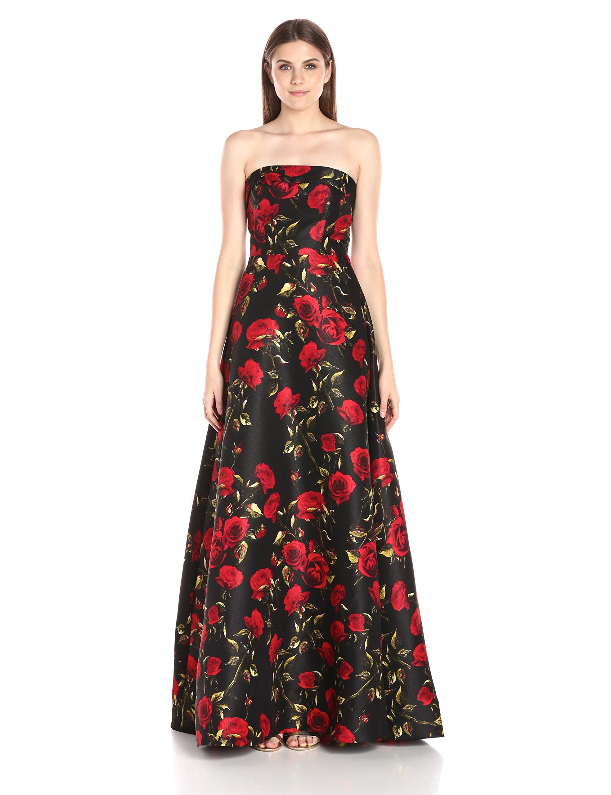 79415afe857 Mac Duggal Womens Long Floral Printed Ball Gown Black Rose 6     You can  get more details by clicking on the image-affiliate link.  formaldresses