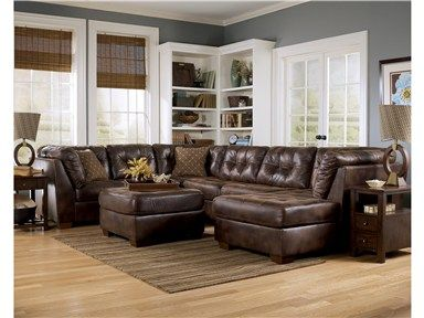 Leather Sofas Shop for Signature Design Frontier PC Sectional Sofa Armless Loveseat RAF Corner