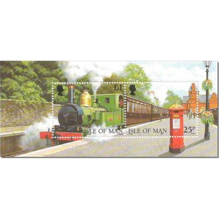 125 Jahre Eisenbahn auf Man - Briefmarken-Block postfrisch, Katalog-Nr. 767 - 768 Bl. 33, Insel Man