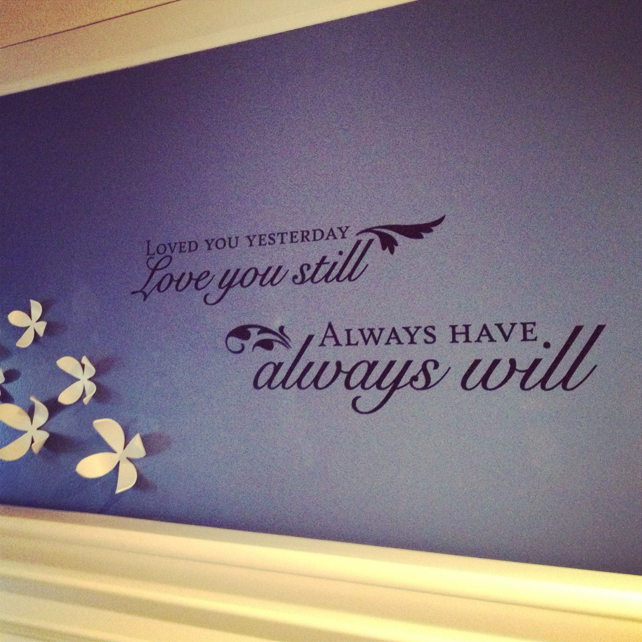 Wall decal from hobby lobby flowers from bed bath and beyond