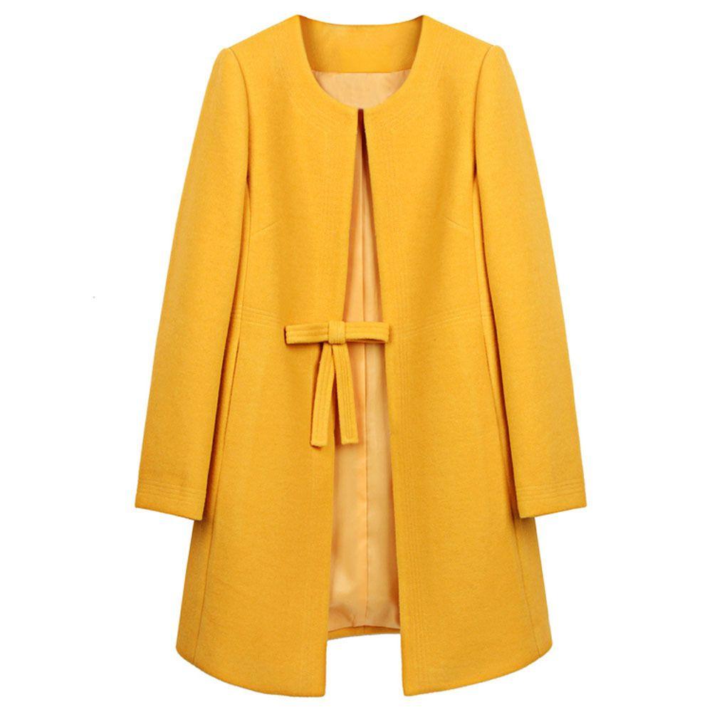 Autumn Women Peacoat Woolen Warm Long Jacket Parka Trench Coat Outwear Overcoat | eBay