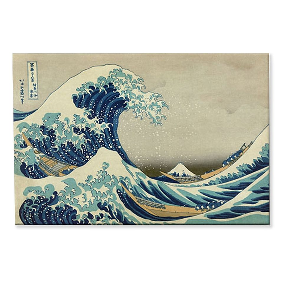 The Great Wave Off Kanagawa 24 Inch X 36 Inch Canvas Wall Art Bed Bath Beyond Canvas Wall Art Art Great Wave Off Kanagawa