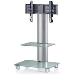 Vcm my media Tv-ständer mit Rollen Bilano silber, mattglas #pantrycabinet