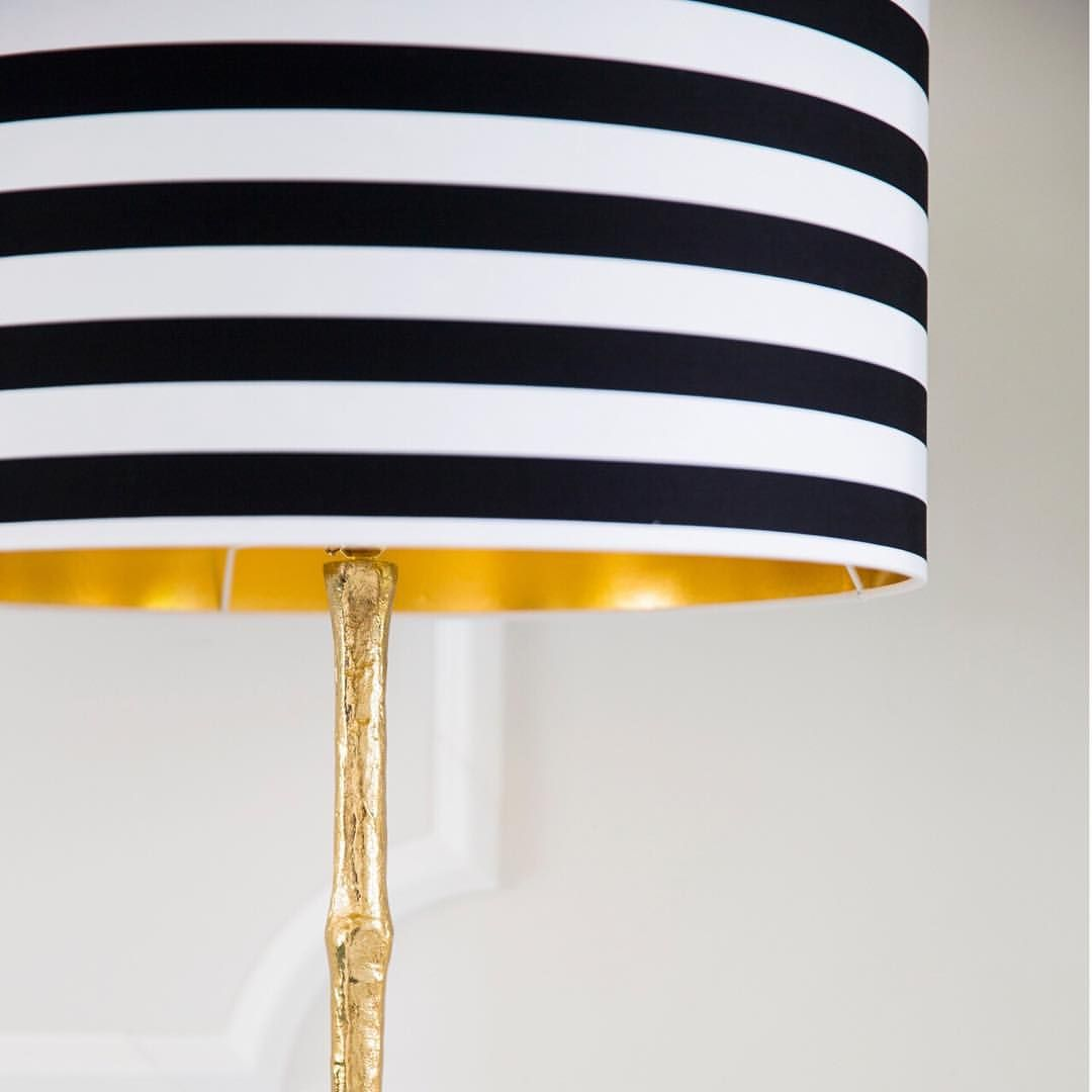 Monochrome gold oh my were in love with our new colonial floor circus stripe shade by love frankie colonial floor lamp by the french bedroom company aloadofball Images