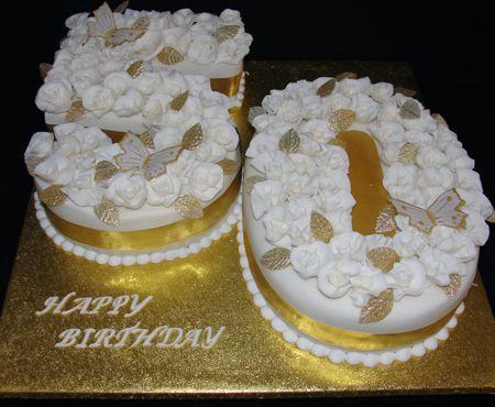 IvoryGoldthBirthdaycakejpg  Th Birthday Cake - 50 birthday cake designs