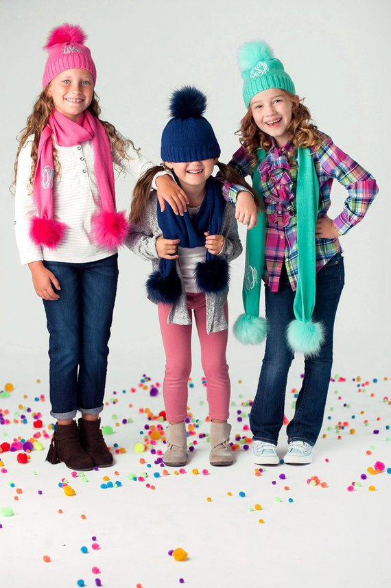 Girls Personalized Beanie and Scarf Set 7e854e47536a