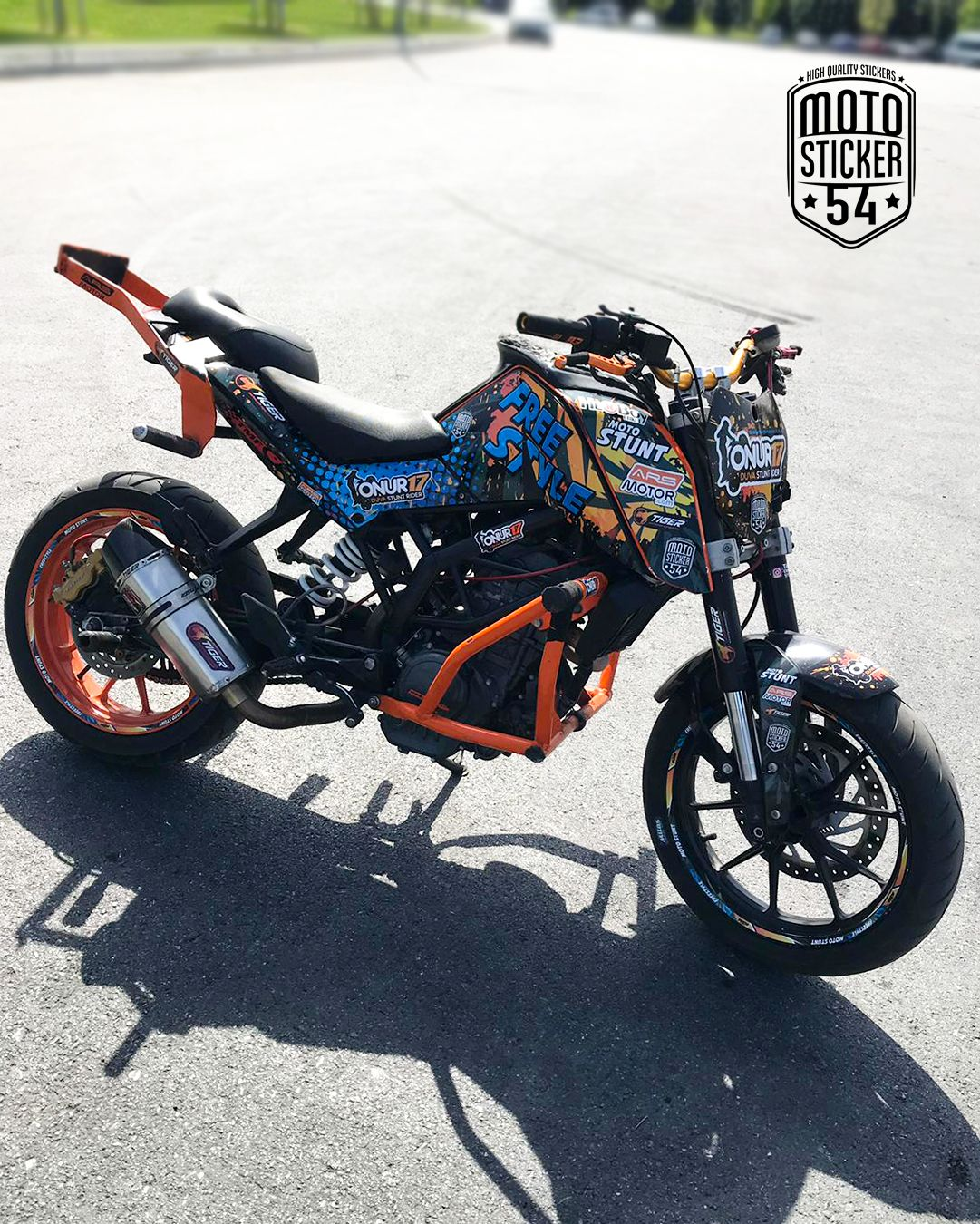 Ktm Duke 200 Onur Duva Custom Design Sticker Kit