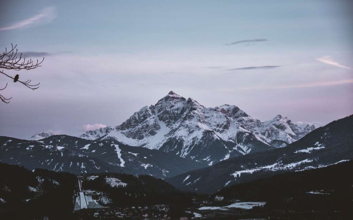 Download Wallpaper 3840x2400 Mountain Aerial View Peak Snowy Sky Horizon 4k Ultra Hd 16 10 Hd Background Cool Pictures Of Nature Scenic Photos Landscape