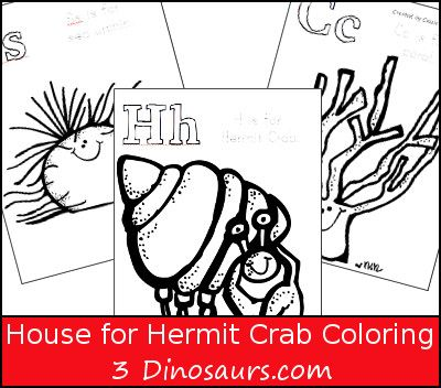 Free House For Hermit Crab Coloring Pages 3dinosaurs Com Ocean