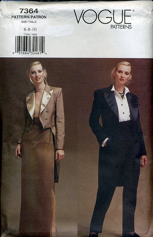 pattern womens tuxedo - Google Search | Sewing Projects in 2018 ...