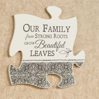 Our Family Quote Puzzle Piece Wall Art Family quotes