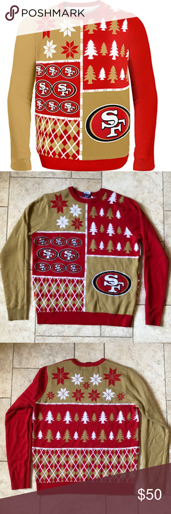 Sf 49ers Ugly Christmas Sweater Ugliest Christmas Sweaters Retail