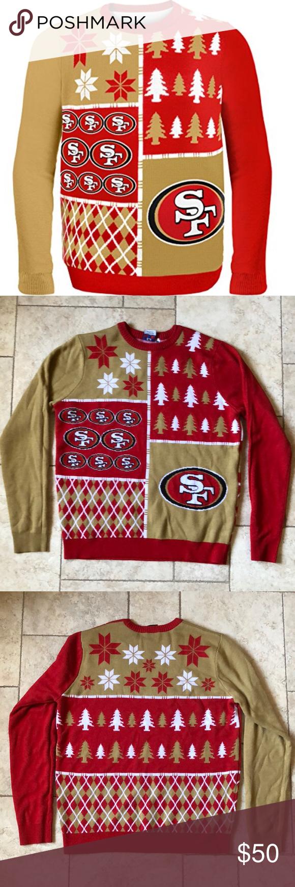 Sf 49ers Ugly Christmas Sweater Ugliest Christmas Sweaters Retail