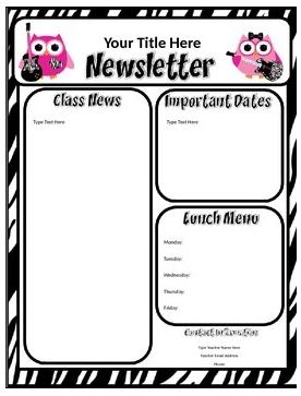 free october newsletter template