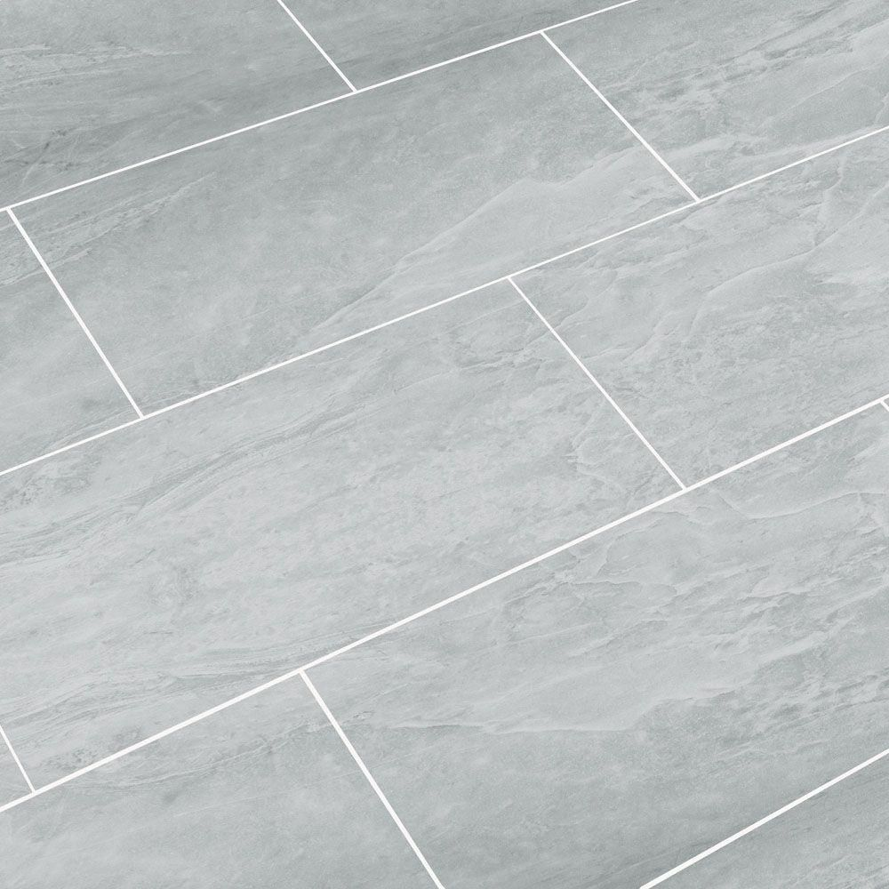 SnapStone Oyster Grey 12 in. x 24 in. Porcelain Floor Tile (8 sq. ft ...