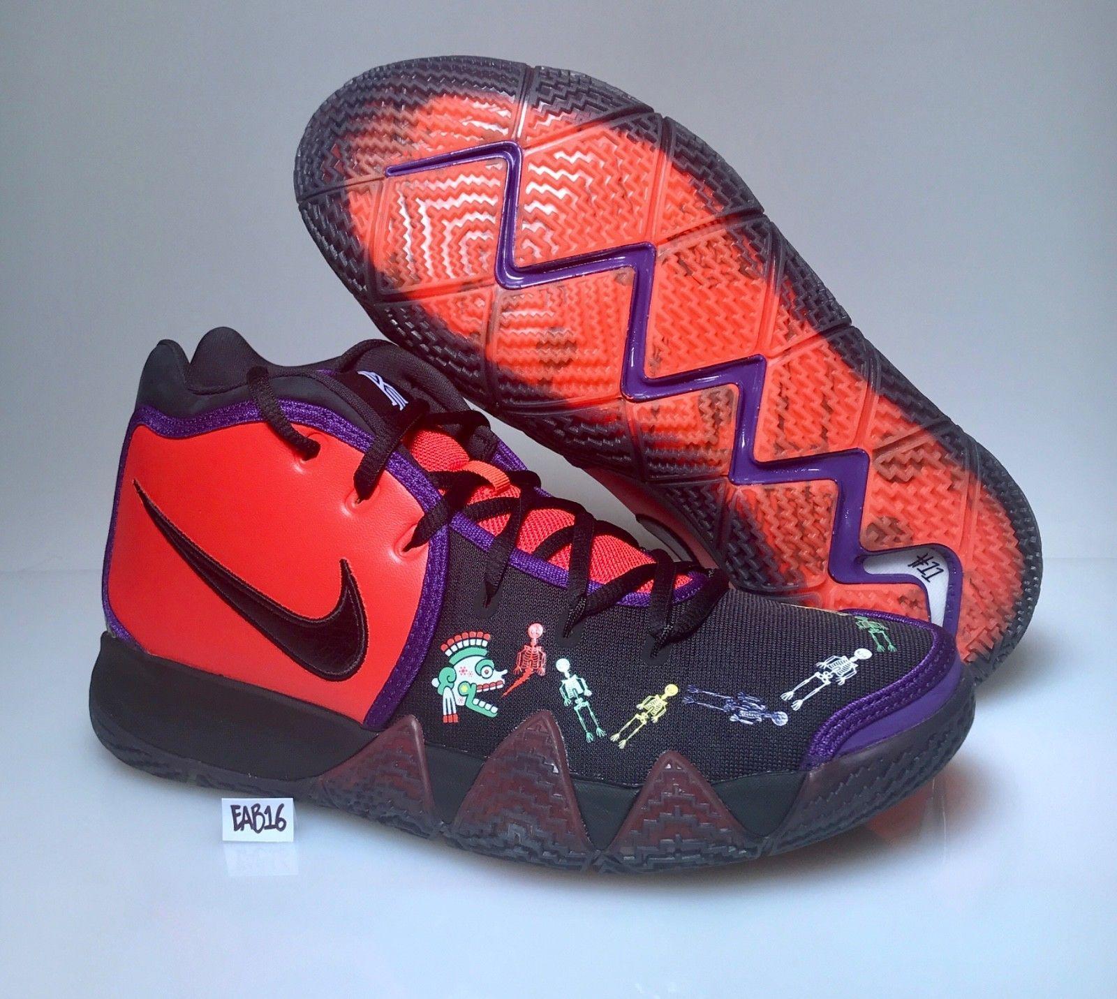 2aa5827d5fc Nike Kyrie Irving 4 IV Day Of The Dead DOTD TV PE 1 Team Orange Black CI0278 -800