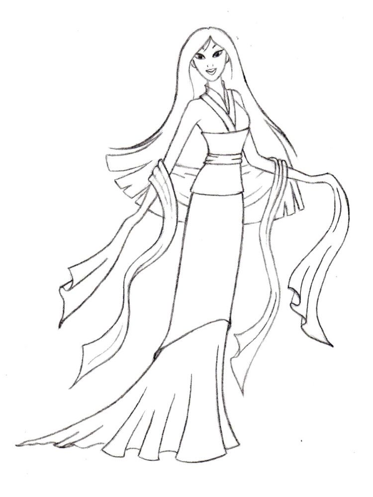 Pictures Of Princess Mulan Coloring Pages Kids | Imágenes ...
