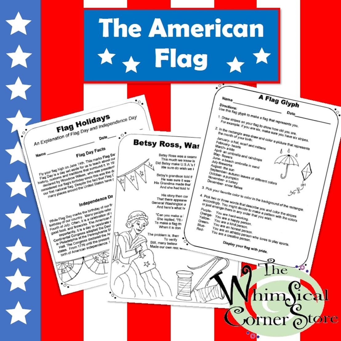 The American Flag Two Original Poems With Accompanying