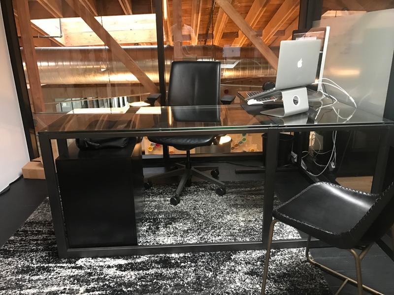 Pilsen Graphite Glass Corner Desk Reviews Crate And Barrel Glass Corner Desk Corner Desk Desk