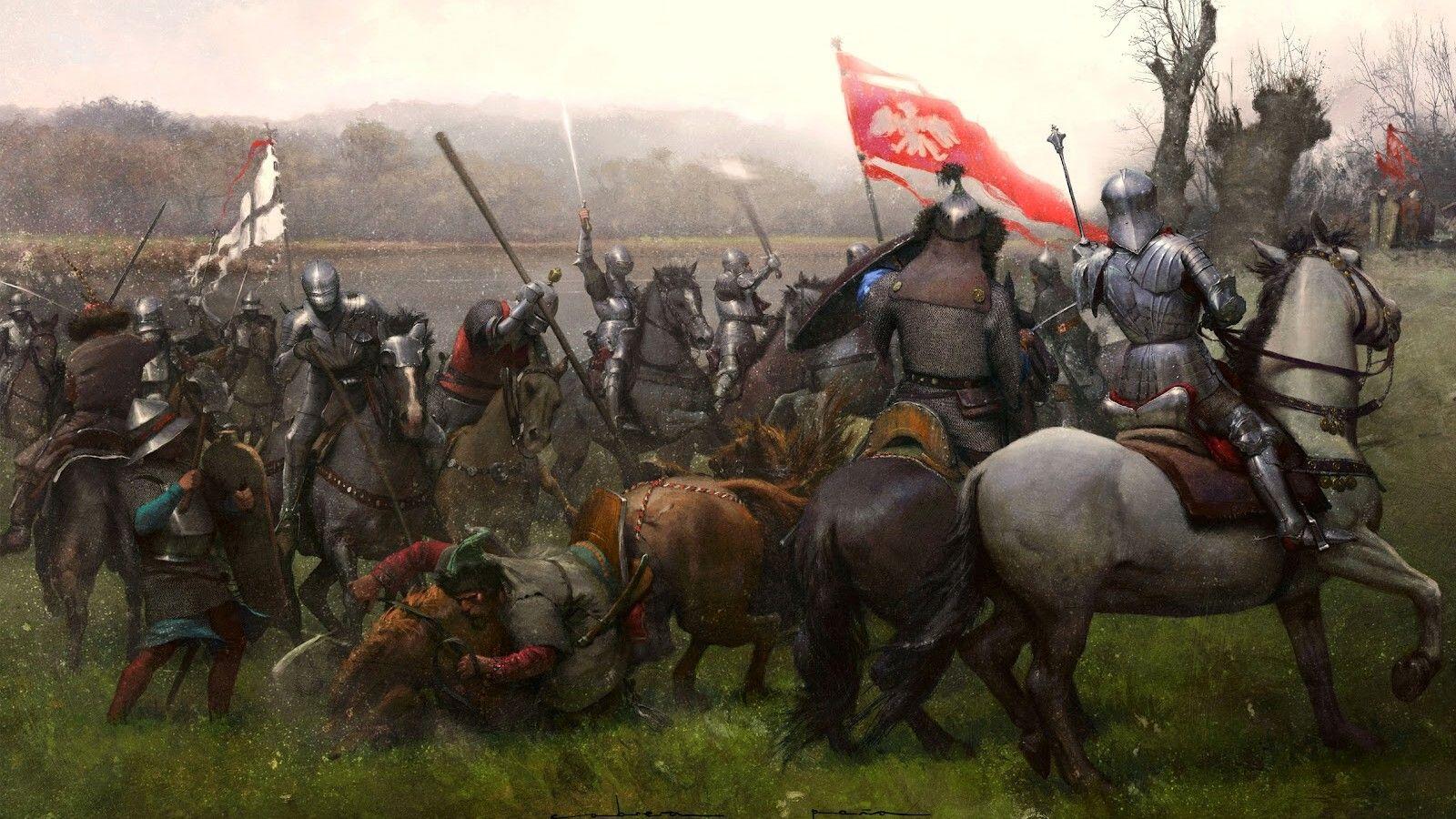 Картинки битв средневековья такое