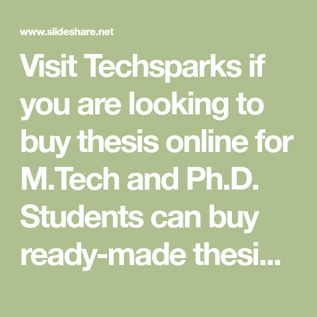 Buy ready thesis