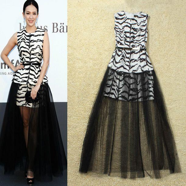 69f4cd6d54 Aliexpress.com   Buy Hot!Red Carpet Designer Fashion Women Black White  Tiger Prints