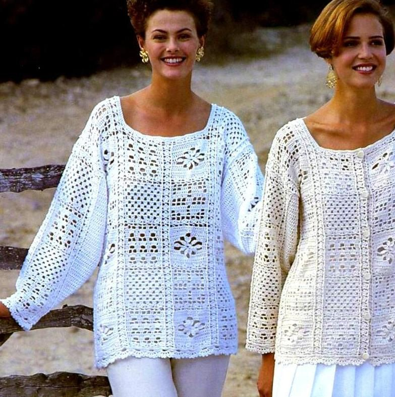 Vintage Crochet Pattern Granny Square por PastPerfectPatterns ...