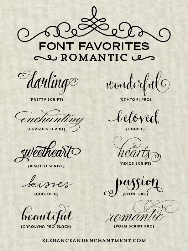 Font Favorites Romantic Diy Projects Pinterest Tattoo Fonts