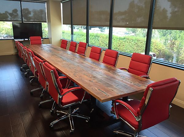 Reclaimed Wood Conference Table Custom Designed By Saint Arbor Los Angeles