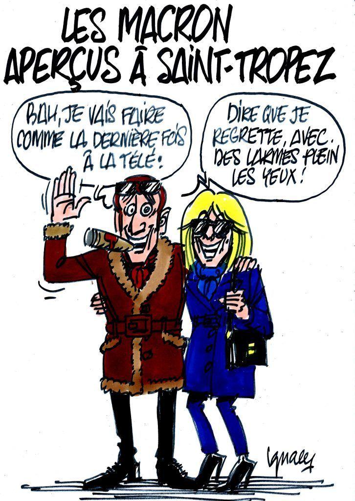 Emmanuel Et Brigitte Macron Aperçus à Saint Tropez