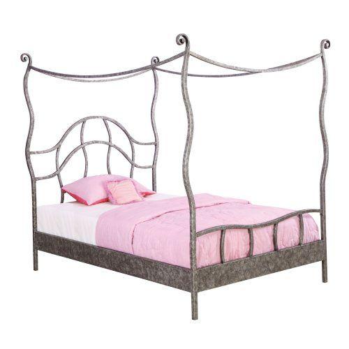 Powell Parisian Full Size Canopy Bed  sc 1 st  Pinterest & Powell Parisian Full Size Canopy Bed | Kids Bed Frames ...