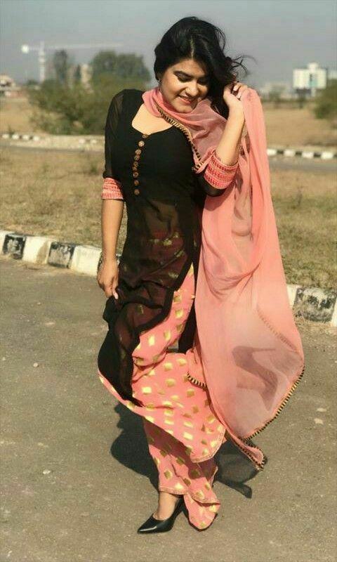 Bollywood Punjabi plazzo Suit Indian partywear black Shalwar Kameez dupatta lac   | eBay