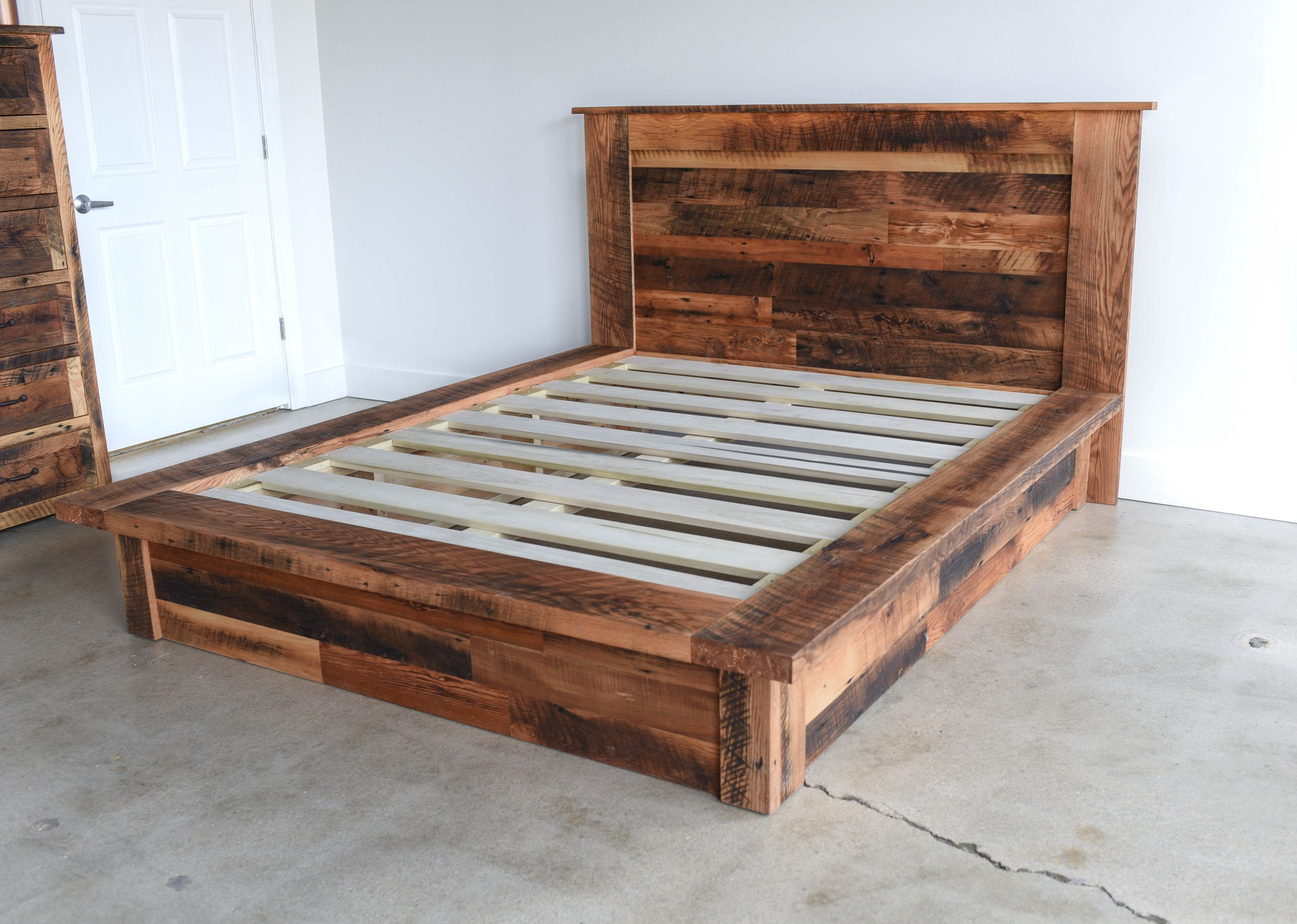 Reclaimed Wood Platform Bed WHAT WE MAKE Wood platform