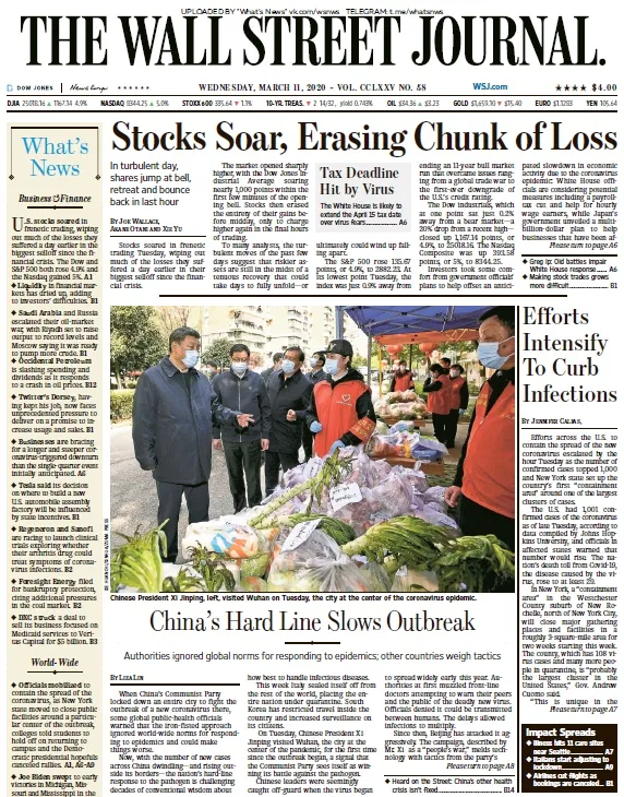 The Wall Street Journal 11 03 2020 Free For Book Wall Street Journal Wall Street Journal