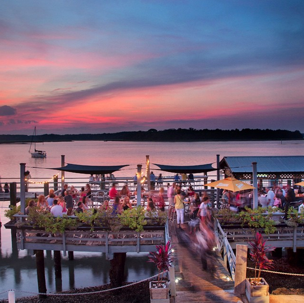 Sunset At Hudson S Seafood In Hilton Head Island Lowcountry Life