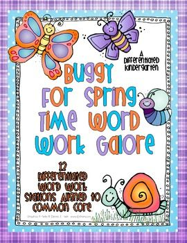 Buggy For Spring Time Word Work Galore-12 Activities Diffe