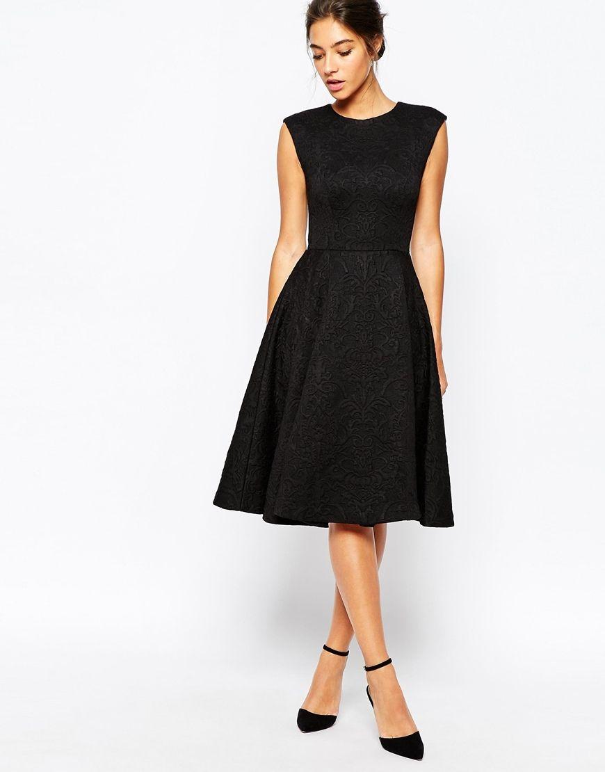 Image 4 of Ted Baker Harmel Jacquard Full Skirt Midi Dress | my ...