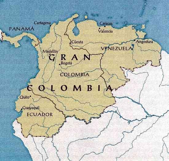Los Herederos De La Gran Colombia El Orden Mundial Eom La Gran Colombia Colombia Mapa De Venezuela