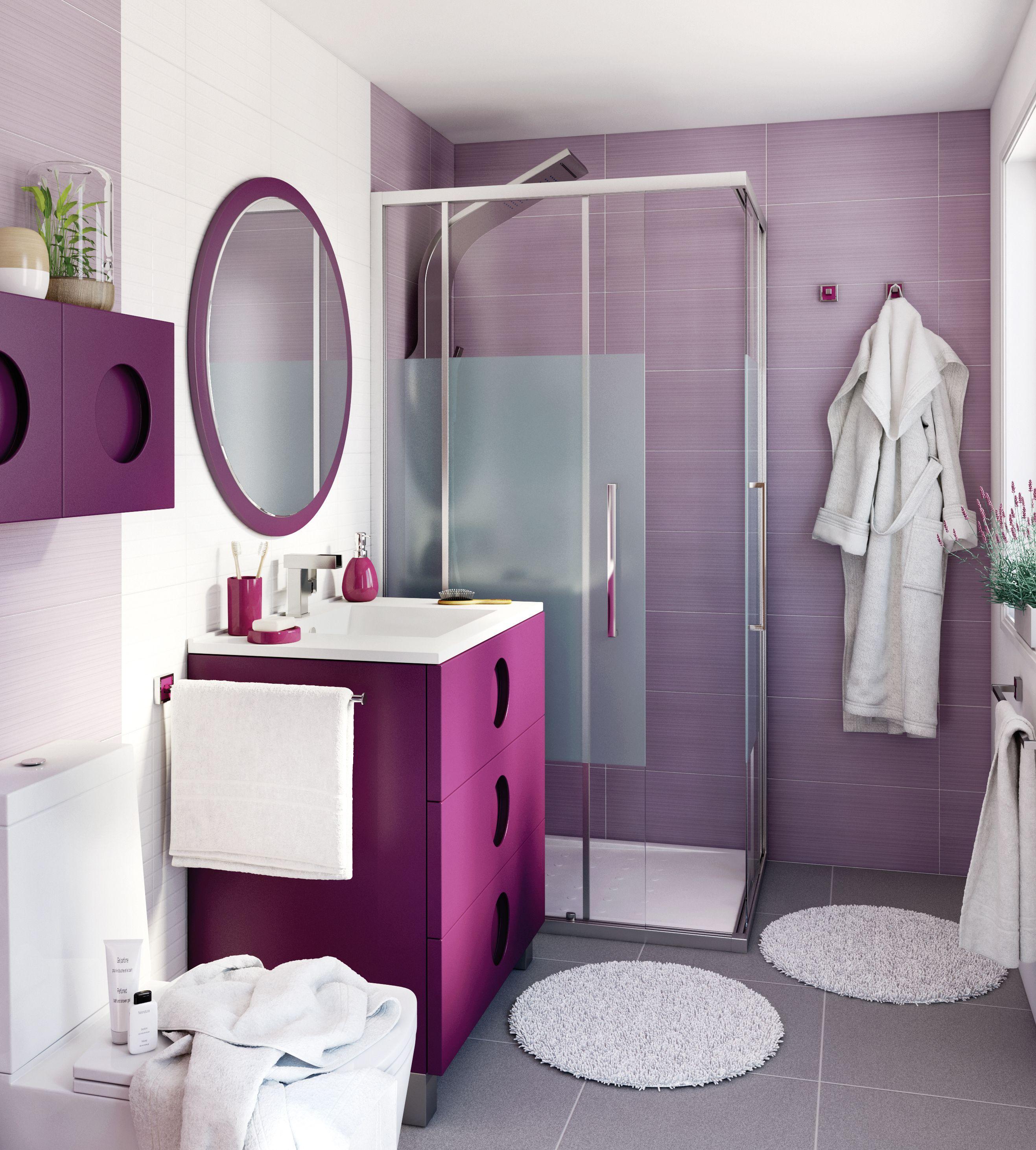 La cer mica a tono con el mueble potencia el color leroy for Leroy azulejos bano