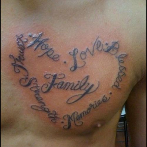 Family Heart Tattoo Related Keywords & Suggestions