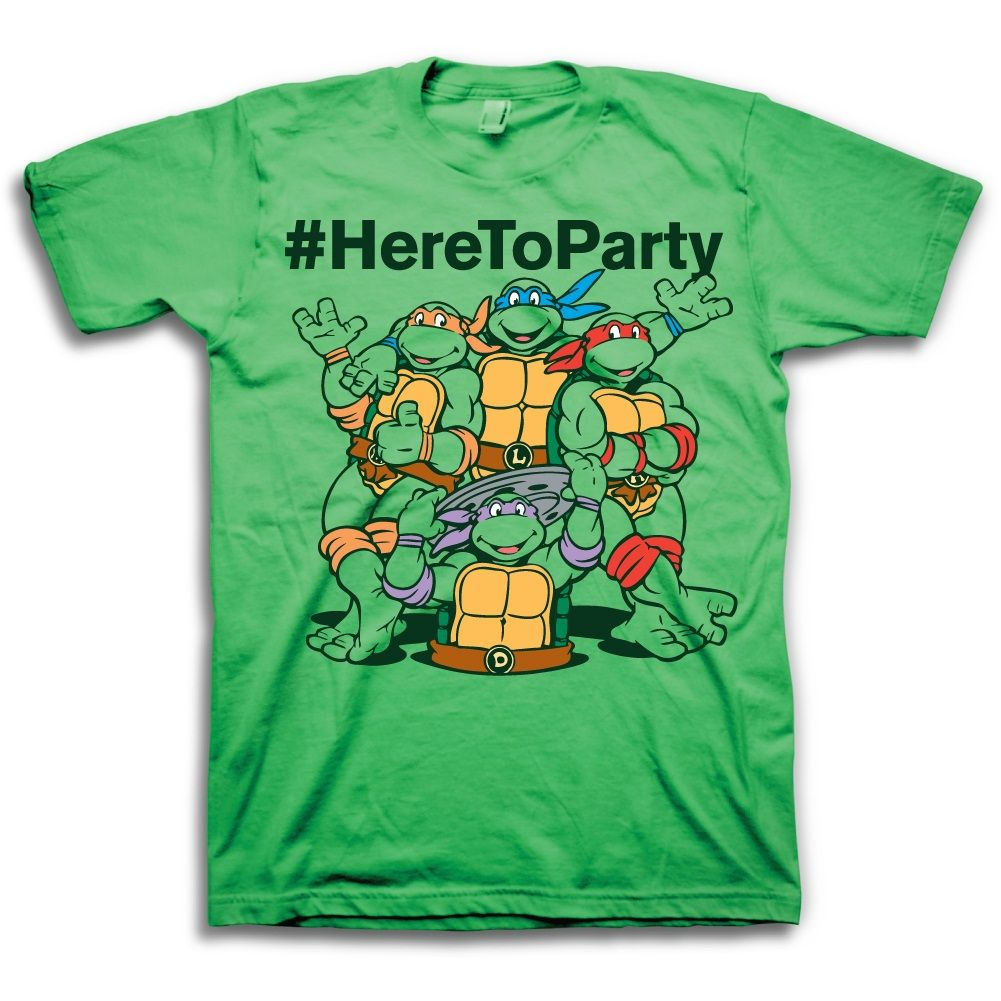 TMNT #HereToParty Hashtag Here To Party T-Shirt