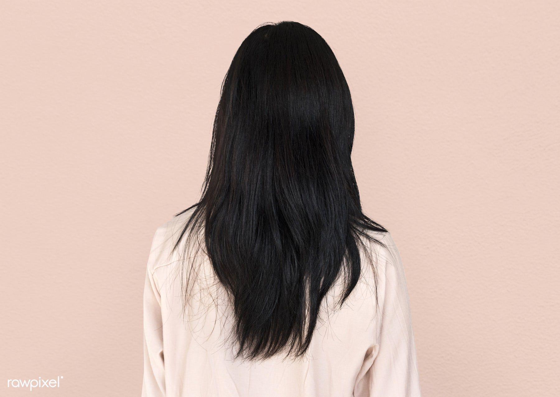 Download Premium Image Of Rear View Of Woman Showing Her Long Black Hair Long Black Hair Hair Premium Hair Hacks