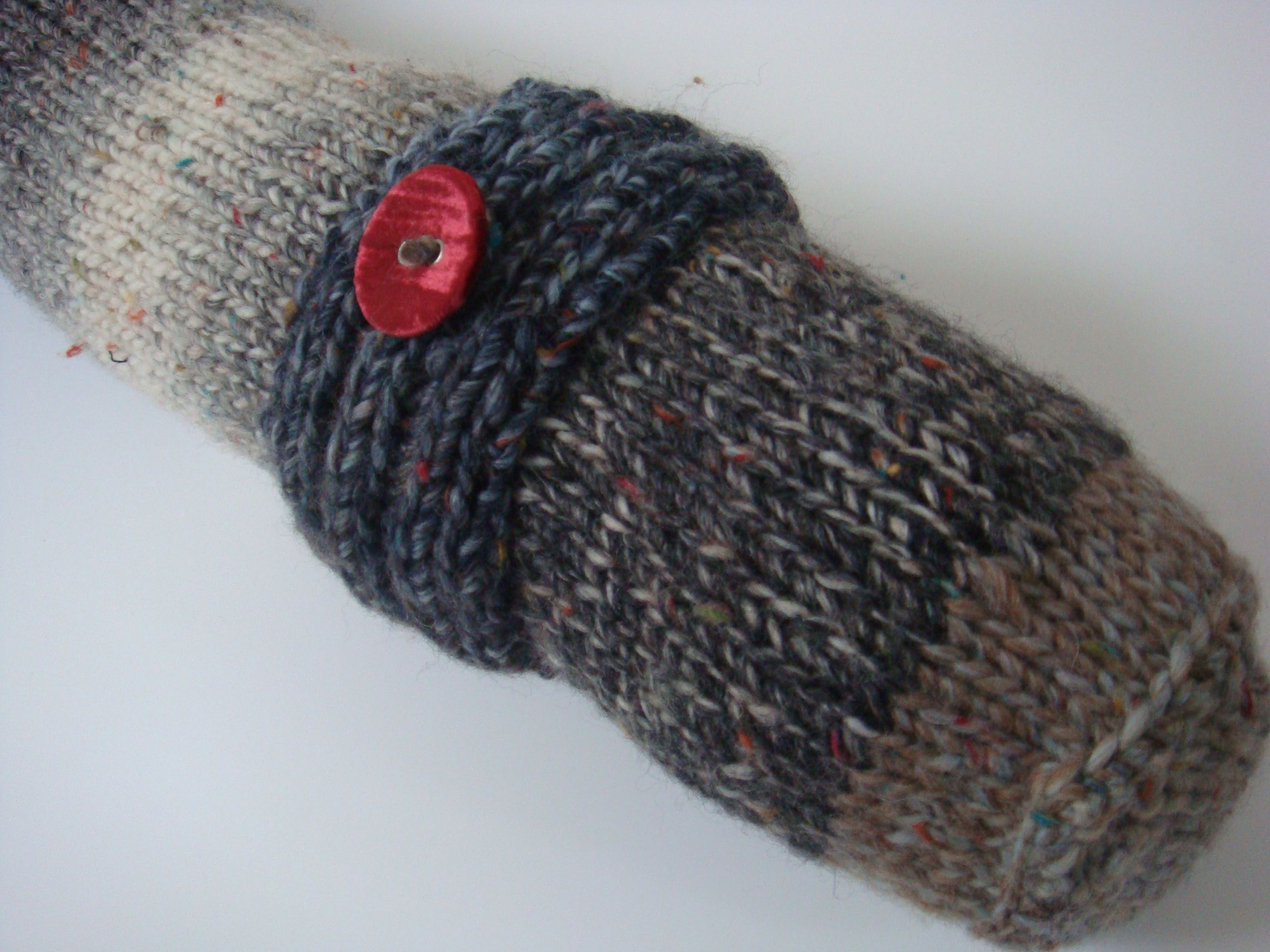 Knitting a draught excluder is one of the easiest make and ...