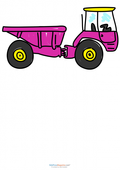 how to draw a tractor
