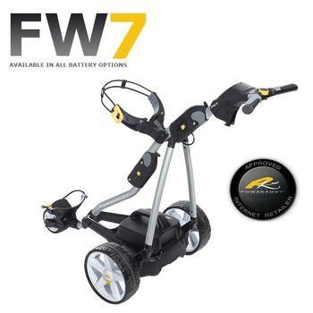 Powakaddy FW7 Electric Trolley Titanium Silver/Carbon Trim