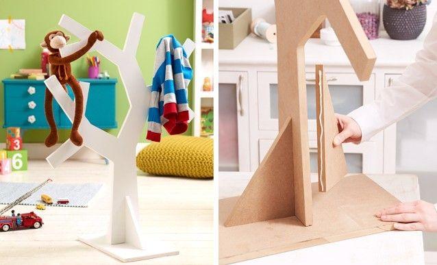Faire soi-même un portemanteau pour enfant en MDF Diy kids - Fabriquer Une Chambre Noire En Carton