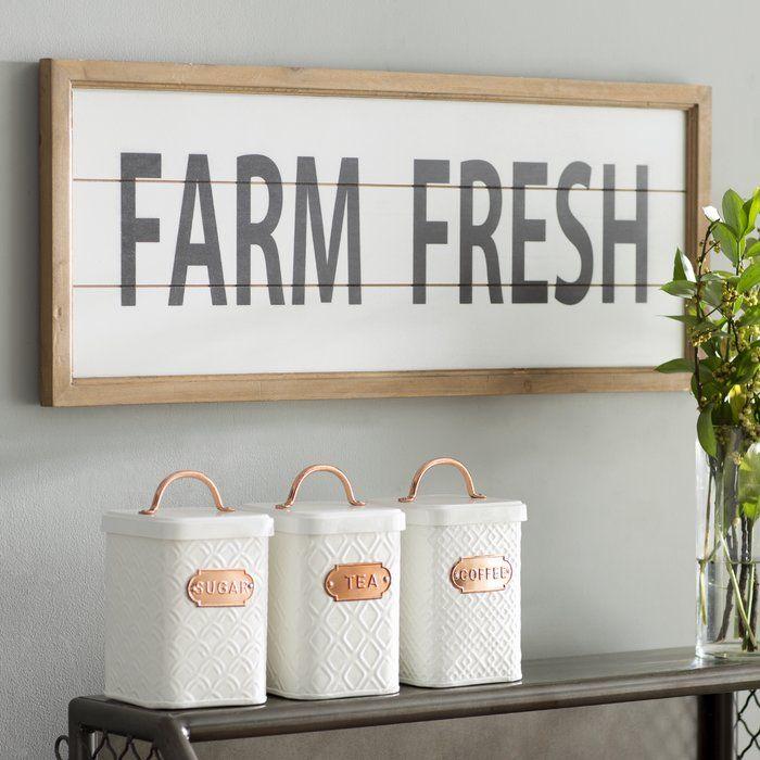 Wooden Farm Fresh Wall Decor   Wall decor, Farming and Walls