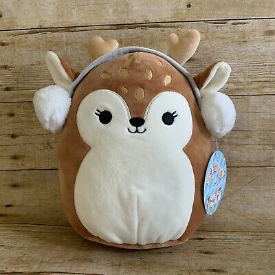 """Kellytoy Squishmallow 8"""" Dawn The Deer Fawn Holiday 2019 Plush Toy Pillow for sale online 