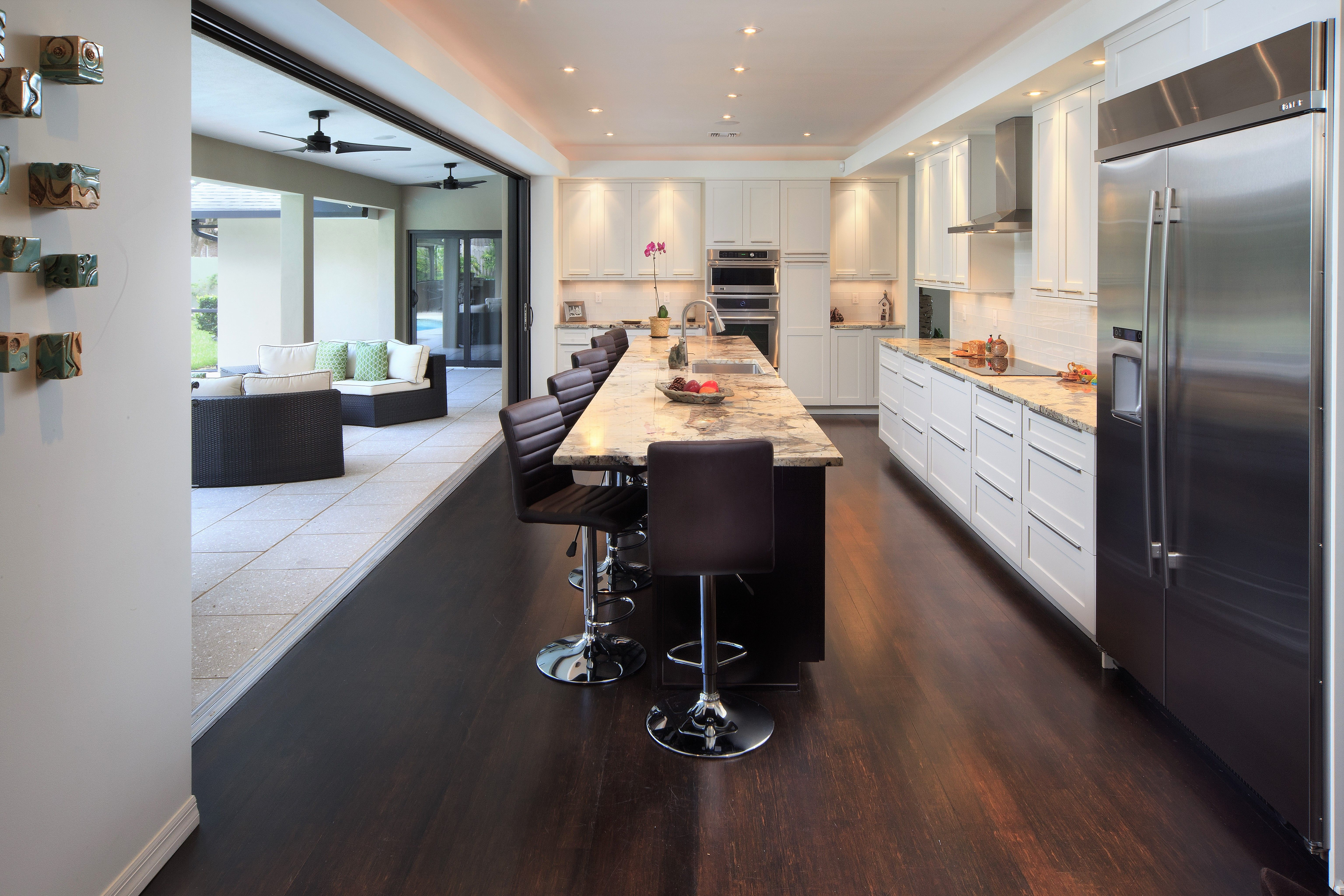 This Modern Kitchen With Shaker Style Cabinets Was Designed By